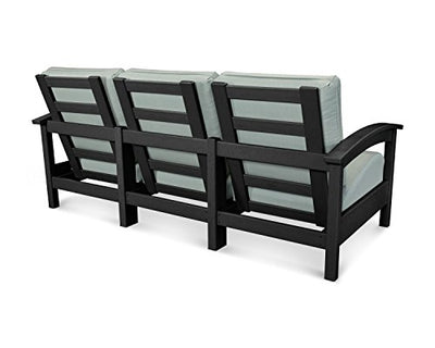 Trex Outdoor Rockport Club Sofa Color: Charcoal Black / Spa