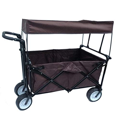 Garden Cart, Folding Trolley Outdoor Camping Handling Portable Push-Pull Truck (Color : C)