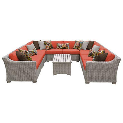TK Classics COAST-11a-TANGERINE Coast Seating Patio Furniture, Tangerine
