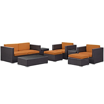 Venice 8 Piece Outdoor Patio Sofa Set