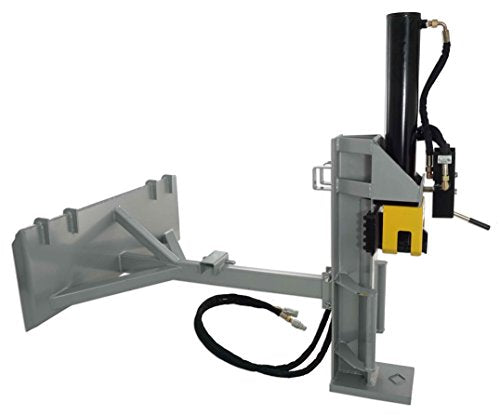 Titan Attachments Hydraulic Log Wood Splitter Skid Steer Tractor Mount Horizontal Vertical 30 Ton