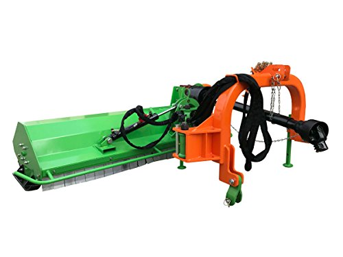 "Nova Tractor 53"" Middle Duty Ditch Bank Flail Mower BCRM135, for Tractor 30 to 40 HP, 3pt Cat I"