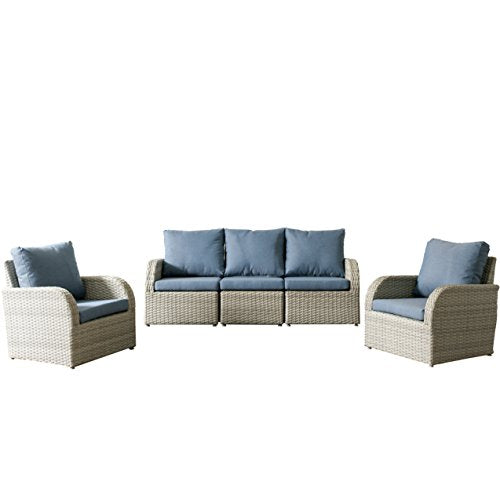 CorLiving PCL-246-Z5 Brisbane Patio Set, Blend Grey