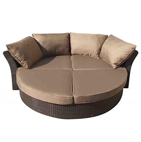 177557 Daybed Brown/Aluminum
