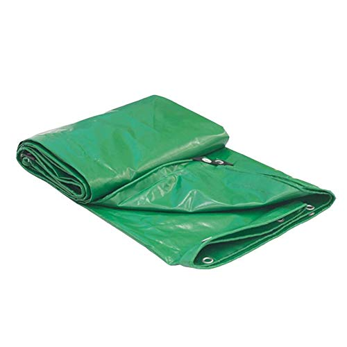 Dall Tarpaulin Double Sided Waterproof Tear Resistance Thicken Rain Cloth Outdoor Protective Cover Multiple Sizes (Color : Green, Size : 6×8m)