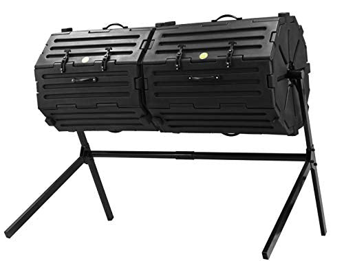 Good Ideas CW-INS108-BLK Wizard Insulated Double-Black Composter, Large,