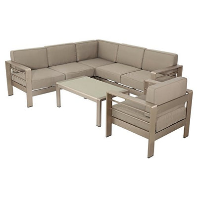 Best Selling Home Decor Furniture Jordan Aluminum 5 Piece Patio Conversation Set
