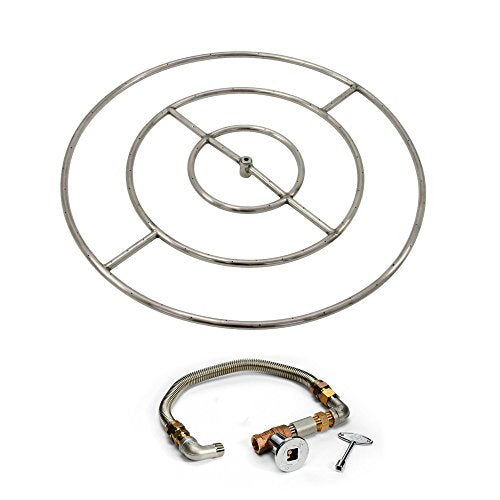 Hearth Products Controls Match Light Fire Pit Kit (FPS48HC KIT), 48-Inch High Capacity, Natural Gas