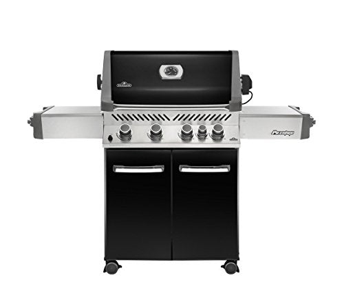 Napoleon P500RBNK-3 Prestige 500 Natural Gas Grill with Infrared Rear Burner, Black