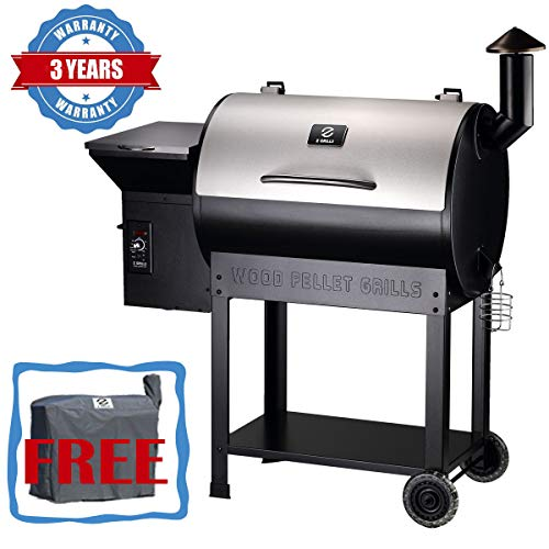 Z GRILLS Wood Pellet Grill & Smoker 700 sq. in Grill Master Essential Barbecue Grill with Electric Digital Controls