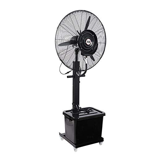 JIAYUAN Misting Fan Oscillating Fan Misting with 3 Cooling Speeds 90° Oscillated Pedestal Fans Copper Motor Standing Fan for Industrial, Commercial, Residential, and Greenhouse Outdoor Use