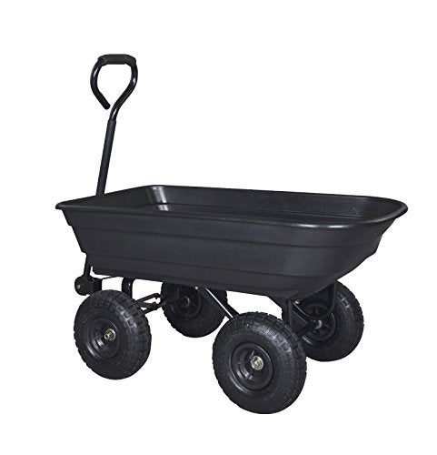 Generic O-8-O-3077-O Garden Cart Wheel el Barr Utility Yard Dump mp Cart Heavy Duty lity Ya Barrow Garden Cart ack Gar Poly Black Garden HX-US5-16Mar28-1774