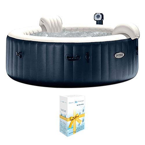 Intex PureSpa 75 Inch Portable Spa 6 Person Inflatable Hot Tub + Chlorine Kit