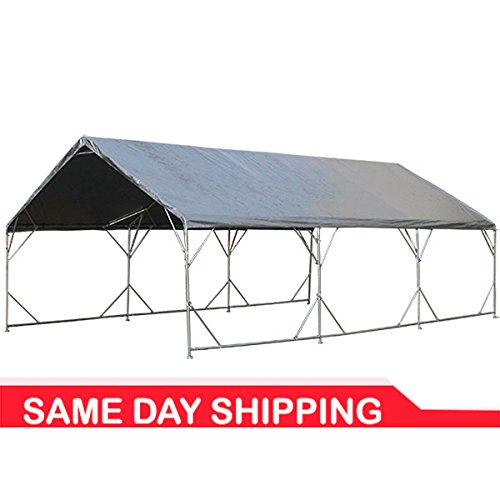 "18' x 40' 1-5/8"" Reinforced Canopy with Valance Top"