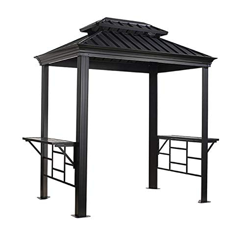 Sojag 500-8162387 Messina BBQ Shelter, 6' x 8', Charcoal