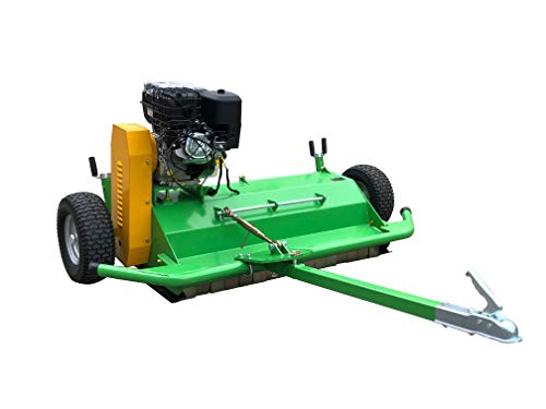 "Nova Tractor ATV Pull Behind Flail Mower, 57"" Mowing Width, Driven by 420cc Briggs & Stratton Electric Start Engine"