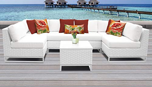 TK Classics MIAMI-07d Miami Seating Outdoor Furniture, Sail White