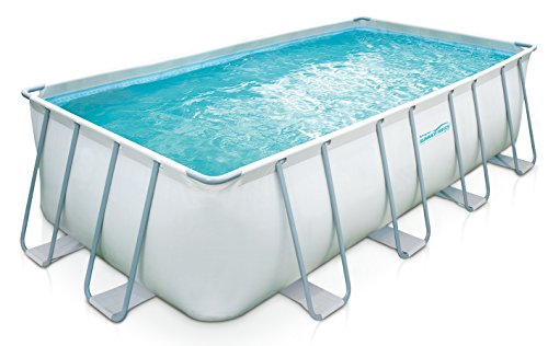 "Summer Waves Elite 18'x9'x52"" Rectangular Frame Pool with 10"" Sand Filter Pump system"