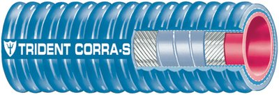 "Trident Marine 252V0344 Silicone Blend Wet Exhaust Hose, Corrugated Temperature Rating 350 Degree F, 87.5 psi Maximum Pressure, 12' Length x 3/4"" ID, Blue (Pack of 12)"