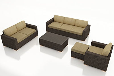 Harmonia Living HL-ARD-CH-5SS-HB 5 Piece Arden Sofa Set, Heather Beige Cushions
