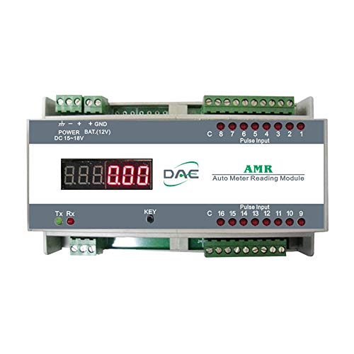 DAE AMR with Power Adapter, Din Rail, Auto Meter Reading Module, RS485, for Reading 16 Water Meters