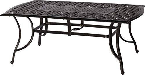 "72"" Rectangle Cast Outdoor Dining Table"