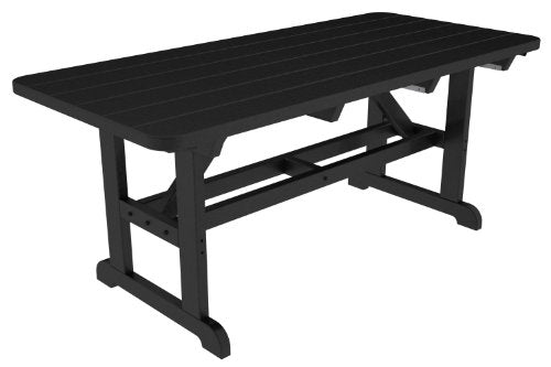 POLYWOOD Park Harvester Picnic Table Finish: Black