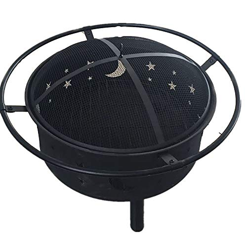 GYFY Outdoor Convenient Wrought Iron Grill Cold Plate Black Iron 0.8mm Thick 2 and 1 Camping Barbecue Charcoal Stove