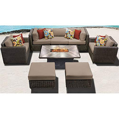 TK Classics VENICE-08h Venice Seating Outdoor Furniture, Wheat