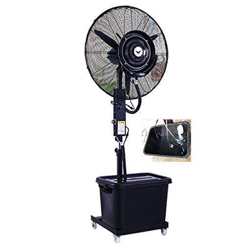 Oscillating Stand Fan Lifting Misting Outdoor High Power Atomizing Shaking Head Industrial Spray Automatic Add Water Suitable for Outdoor/Factory/Shopping Mall 110V/60Hz