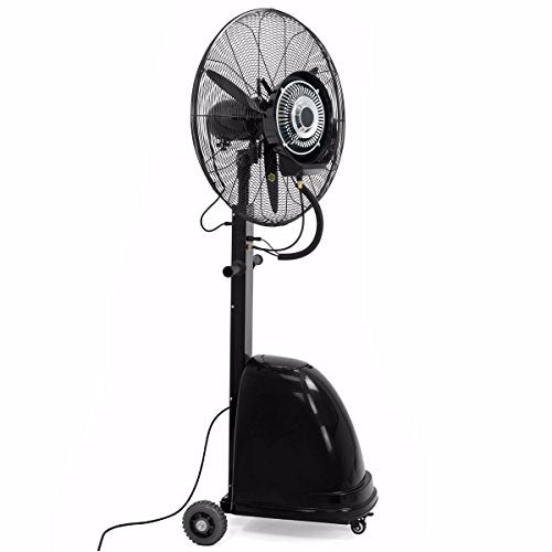 "Cypressshop Portable Electric Mist Fan 26"" Commercial High-Velocity Misting Fan Outdoor Indoor Uses Industrial Cooling Air"