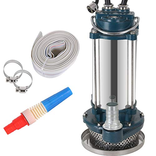 XY Stainless Steel Submersible Pump 220V Household Clear Water Pump Well Pump Sprinkler pump (Size : 750W)