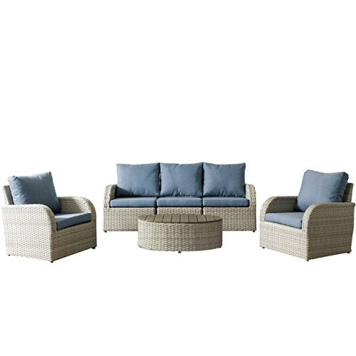 CorLiving PCL-247-Z2 Brisbane Patio Set, Blend Grey