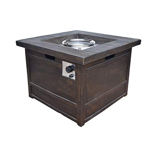 "Christopher Knight Home Landman Outdoor Fire Pit by 32"" Gas-Burning Lightweight Concrete by"