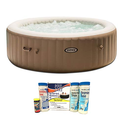 Intex Pure Spa 6-Person Inflatable Portable Bubble Jet Hot Tub with Chemical Kit