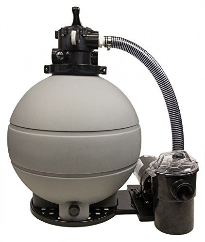 Rx Clear Patriot Sand Filter System | for Above Ground Swimming Pools Up to 22,000 Gallons | Compatible with Intex & Pop Up Above Ground Pools | 22 Inch Filter | 2 HP Niagara Pool Pump