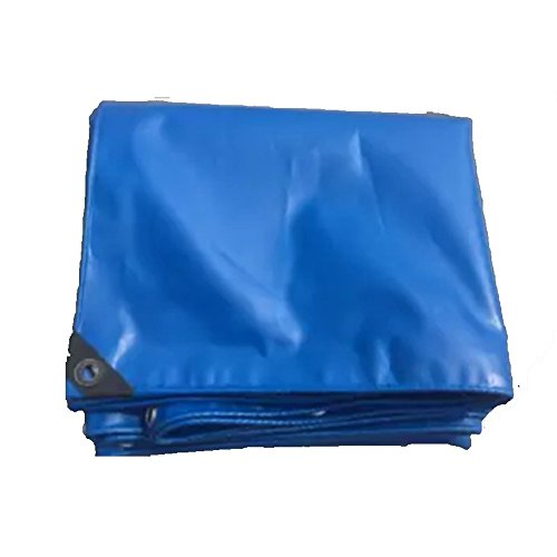 YSNBM Tarpaulin PVC Tarpaulin Windproof Shading Gardening Outdoor Rain Cover Blue Shade Cover, Trucks, Plant House (Size : 610m)