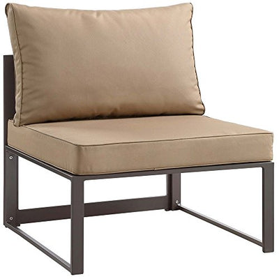 "8 PC Outdoor Patio Sectional S Dimensions: 60""W x 150""D x 32.5""H Weight: 244 lbs Brown Mocha"