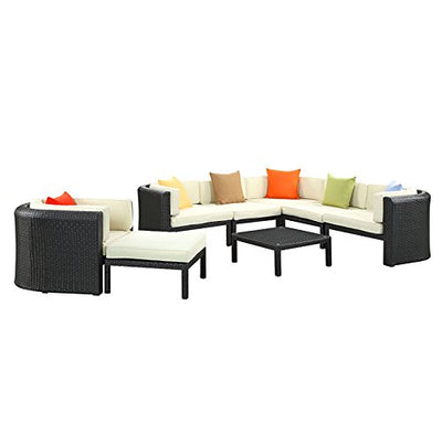 Modway Bonaire 9 Piece Outdoor Patio Sectional Set WL-05010-MW