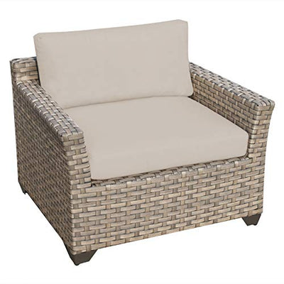 TK Classics Monterey 8 Piece Outdoor Wicker Patio Furniture Set 08b, Beige