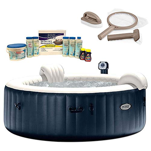 Intex Pure Spa 6 Person Inflatable Hot Tub, Maintenance Kit, Chemical Kit