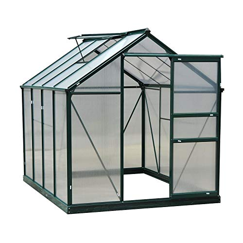 MRT SUPPLY 6'x8'x7' Aluminum Frame Walk in Greenhouse Garden Hobby Green House New with Ebook