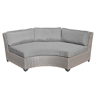 TK Classics FLORENCE-08b-GREY 8 Piece Outdoor Wicker Patio Furniture Set, Grey