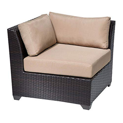 HomeRoots 6 Piece Outdoor Wicker Patio Furniture Set 06e - Wheat, Made of PE Resin with Powder Coated Aluminum Finish