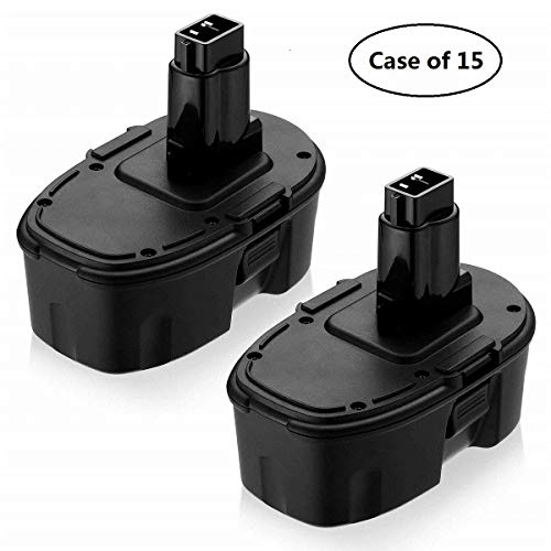 Case of 15 Packs, 2/Pack, Eagglew 3600mAh Replacement for Dewalt 18V Battery XRP DC9096 DC9099 DC9098 DW9099 DW9098 Compatible With 18 Volt Cordless Power Tools