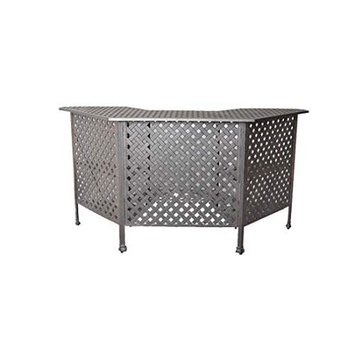 Sunvuepatio Nassau Cast Aluminum Powder Coated 5 Piece Outdoor Bar Table and Chairs Set Desert Bronze