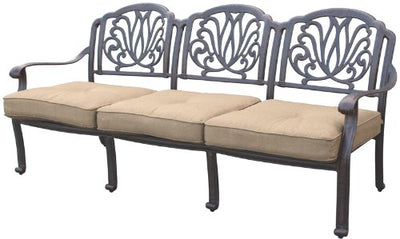 Heritage Outdoor Living Elisabeth Cast Aluminum Sofa - Antique Bronze
