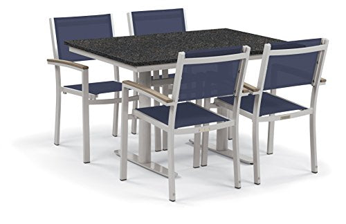 Oxford Garden 5328 Travira Light Weight Bistro Set with Table, Ink Pen