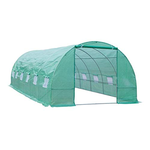 oldzon 26' x 10' x 7' Outdoor Portable Walk-in Tunnel Greenhouse w/Windows with Ebook