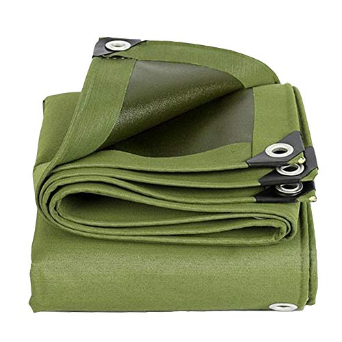 Dall Tarpaulin Multi-Purpose Rainproof Sun Protection Waterproof UV Protected Heavy-Duty Canvas Wear Resistant (Color : Green, Size : 6×7m)